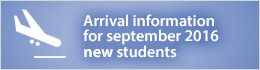 Arrival Information for New International Students - September 2016