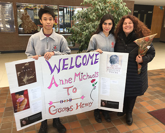 Poet Anne Michaels Visits George S. Henry Academy