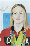 Portrait of Canadian Olympic Champion Penny Oleksiak Unveiled