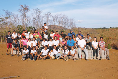 Students from John Polanyi help build a school in Nicaragua