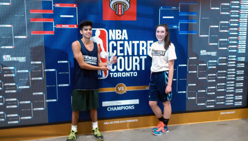 ECI students shoot out the lights at NBA all-star weekend competition