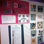 Winona Drive students learn valuable lessons through freedom quilt project