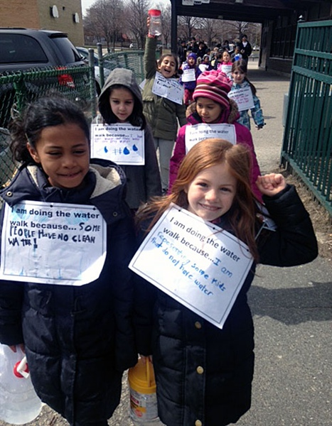Chester ES walk raises money for access to clean water