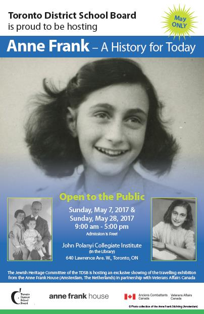 Anne Frank Exhibit Poster