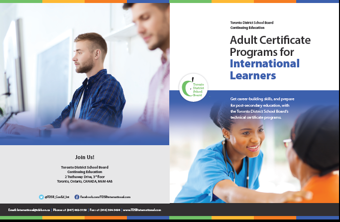 Adult Certificate Programs brochure