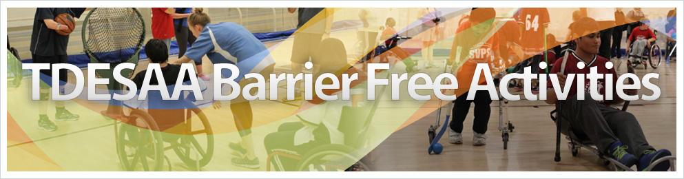 TDESAA Barrier Free Sports Banner