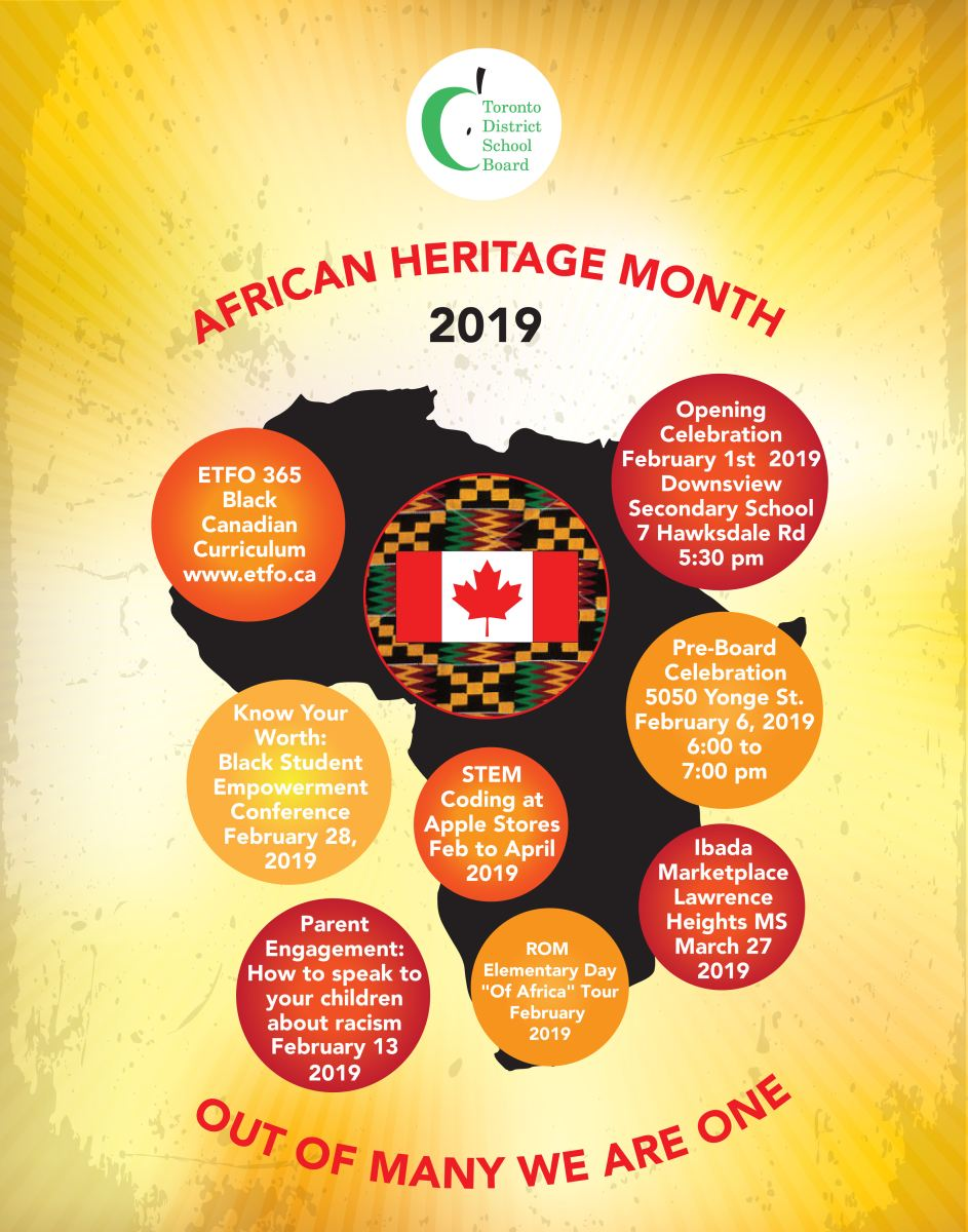 African Heritage Month promotional flyer