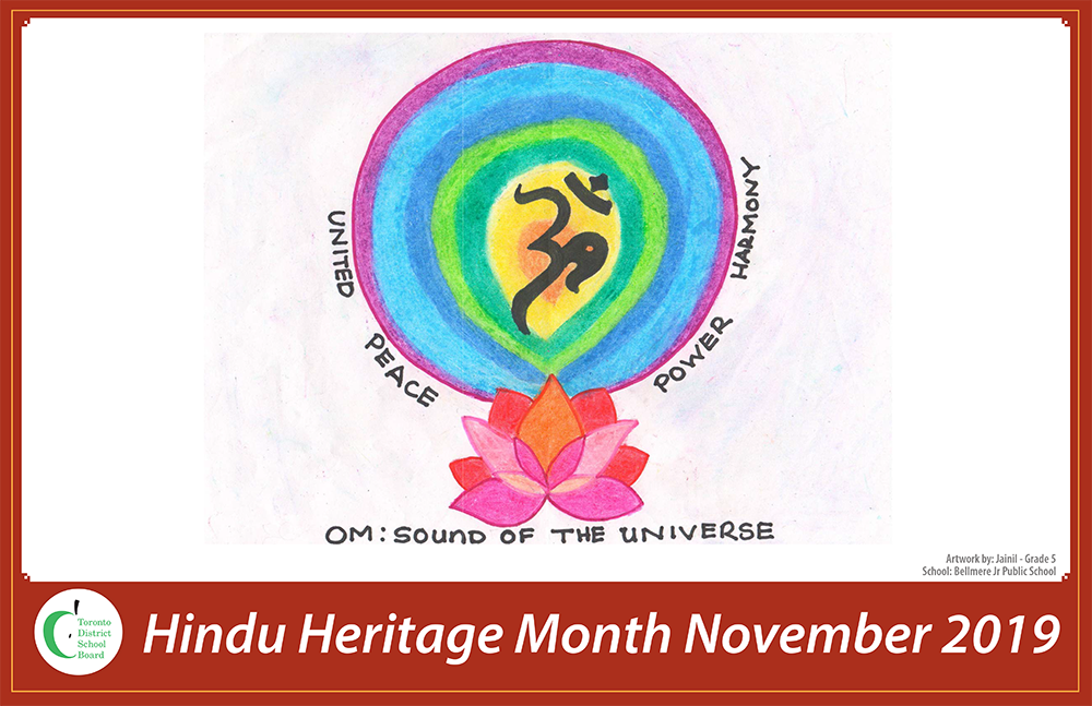 A Hindu Heritage Month poster designed by a TDSB secondary student.