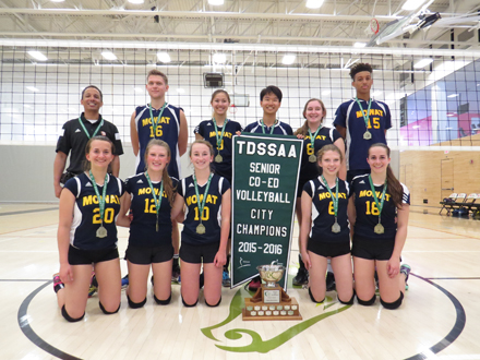 Sir Oliver Mowat poses with thier City Championship trophy!