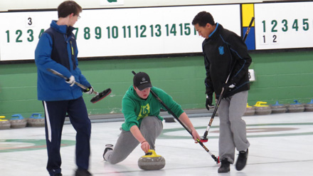 Boys curling game