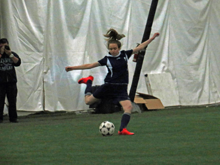 indoor soccer players