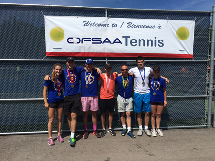 The Lawrence Park CI Tennis Team poses for their OFSAA photo.