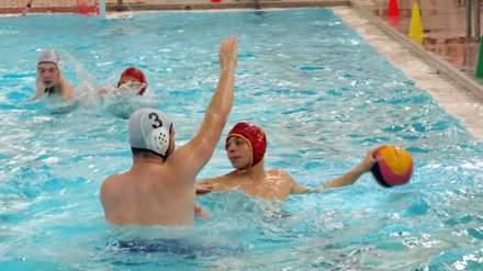 Georges Vanier and Victoria Park teams are playing Water Polo