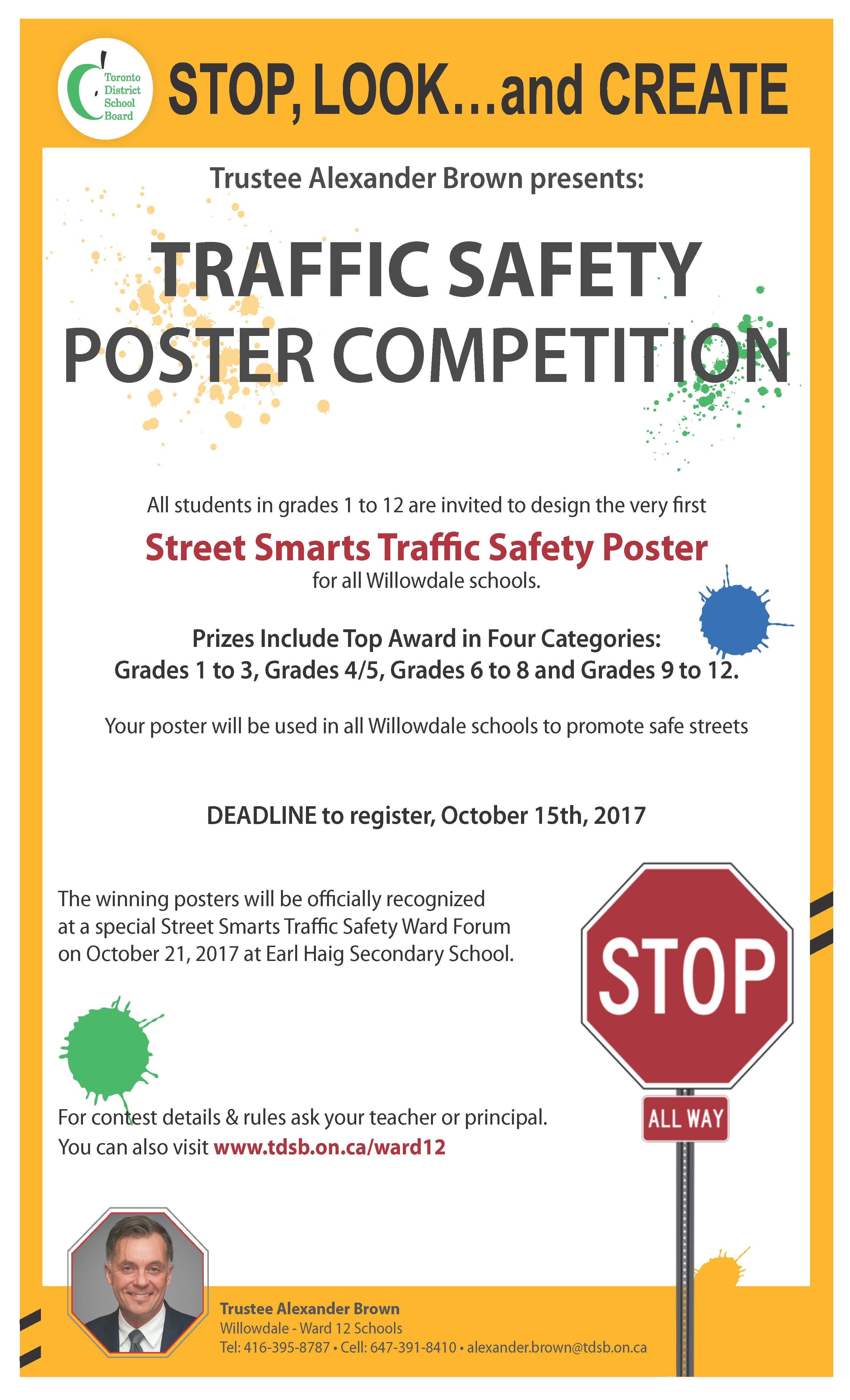 A. Brown Traffic Safety Poster Contest Rules and Background