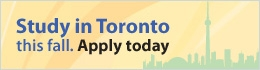 Study in Toronto this winter. Apply today