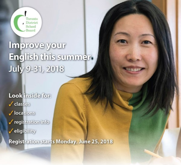 Adult ESL Summer Brochure