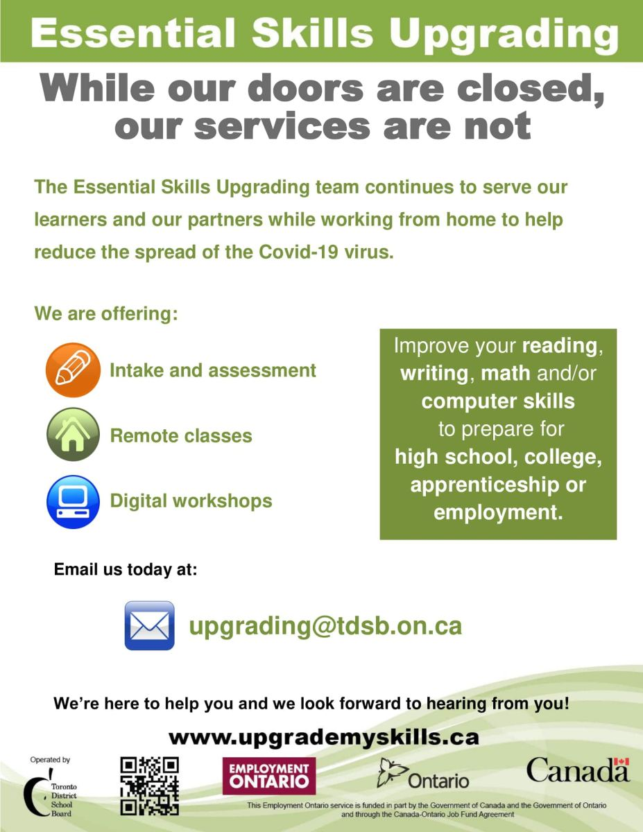 Essential Skills Upgrading Flyer
