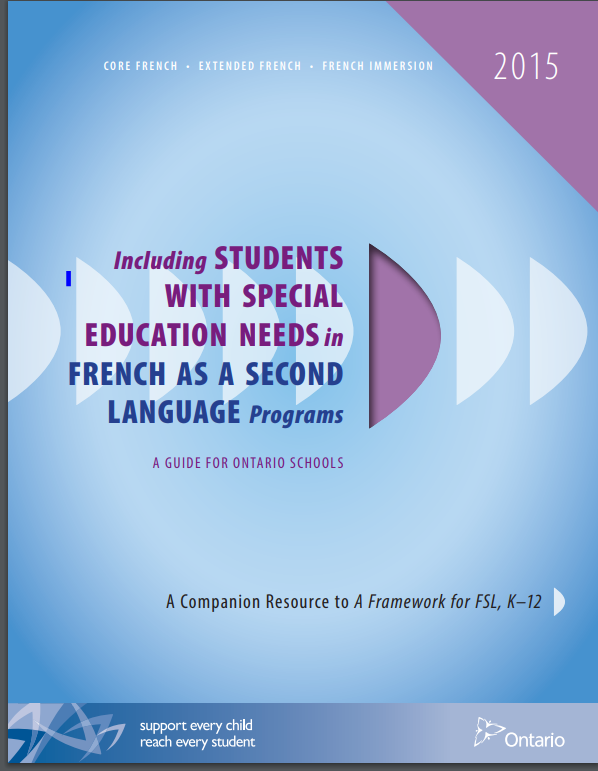 Cover of Including students with Special Education Needs in French as a Second Language Programs
