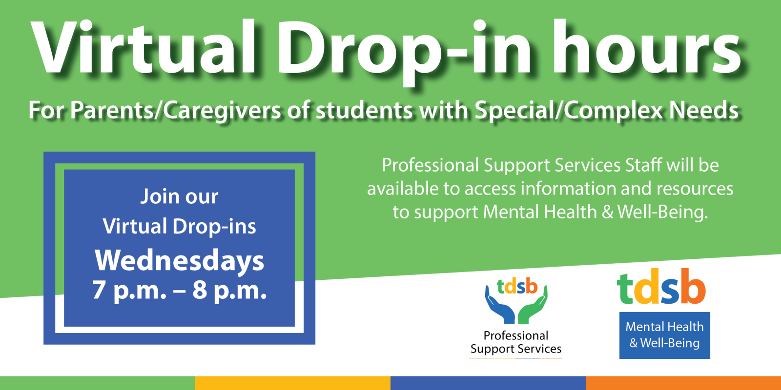 Virtual Office Hours for Parents/Caregivers with students with special education/complex needs