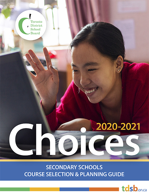 TDSB Choices 2020-21 front page