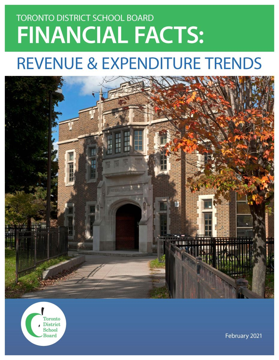 TDSB Financial Facts: Revenue & Expenditure trends February 2021