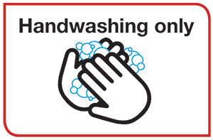 Hand washing poster with the words