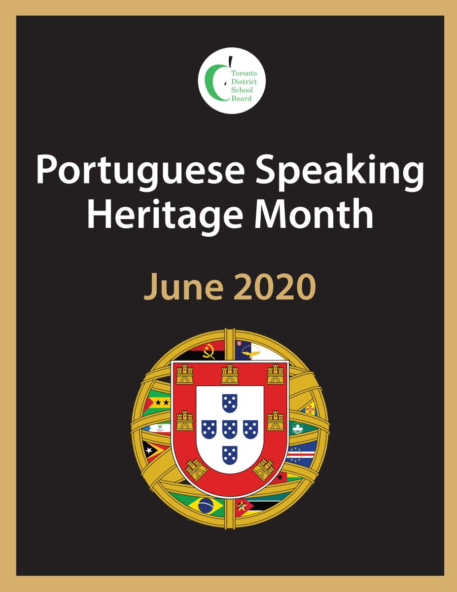 Poster recognizing Portuguese-Speaking Heritage Mont at the TDSB