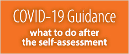 Covid-19 Guidance on What to do after Self-assessment