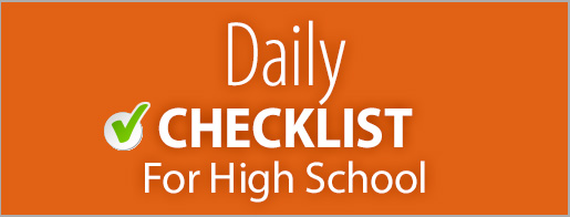 Daily Parent Checklist - Secondary