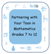Partnering with your Teen in Mathematics Icon