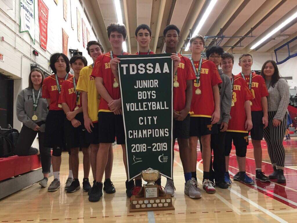 Richview CI fought hard to win the Junior Boys Volleyball gold medal .To see more photos, visit the Photo Gallery.
