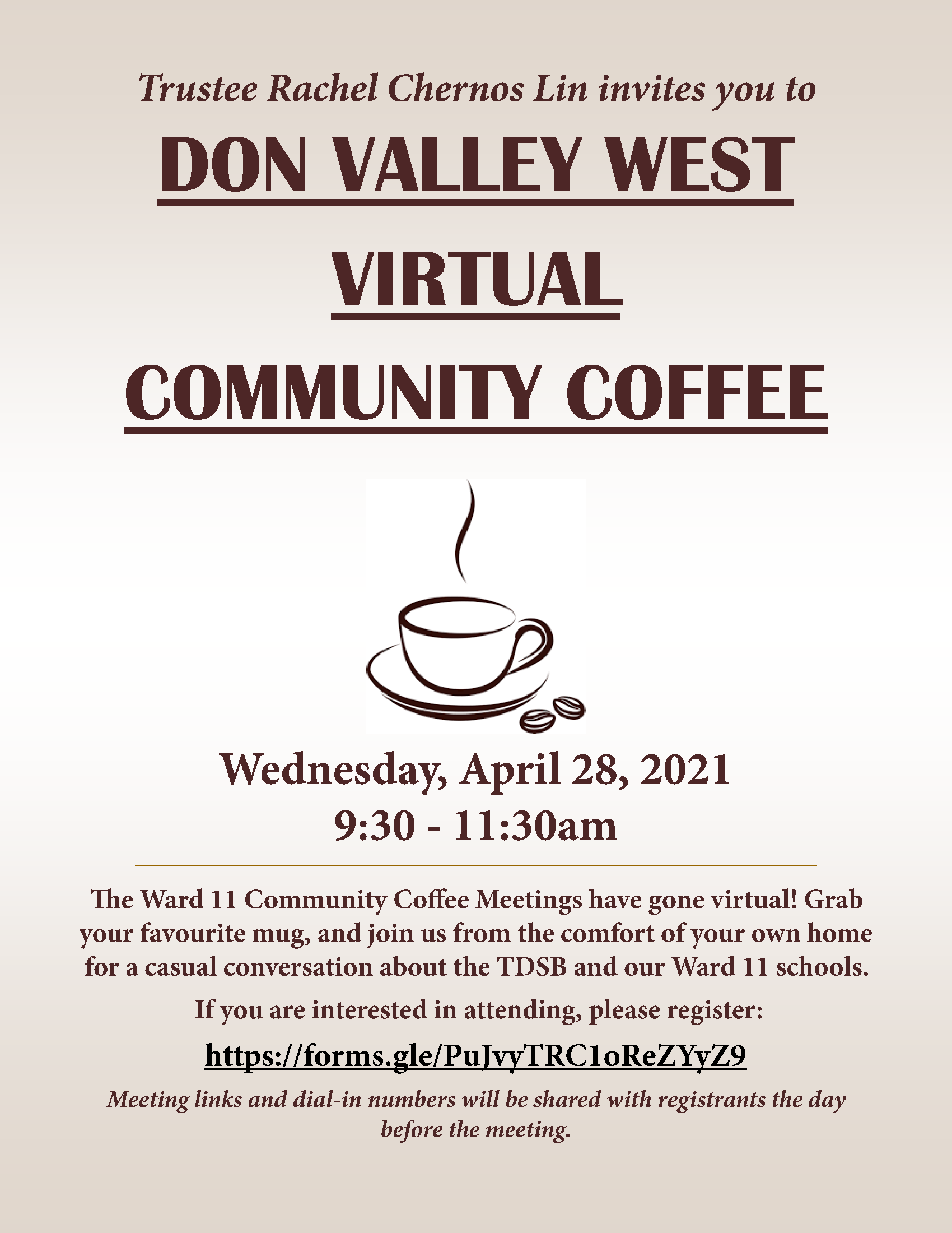 2021 04 28 R. Chernos Lin Virtual Community Coffee Flyer