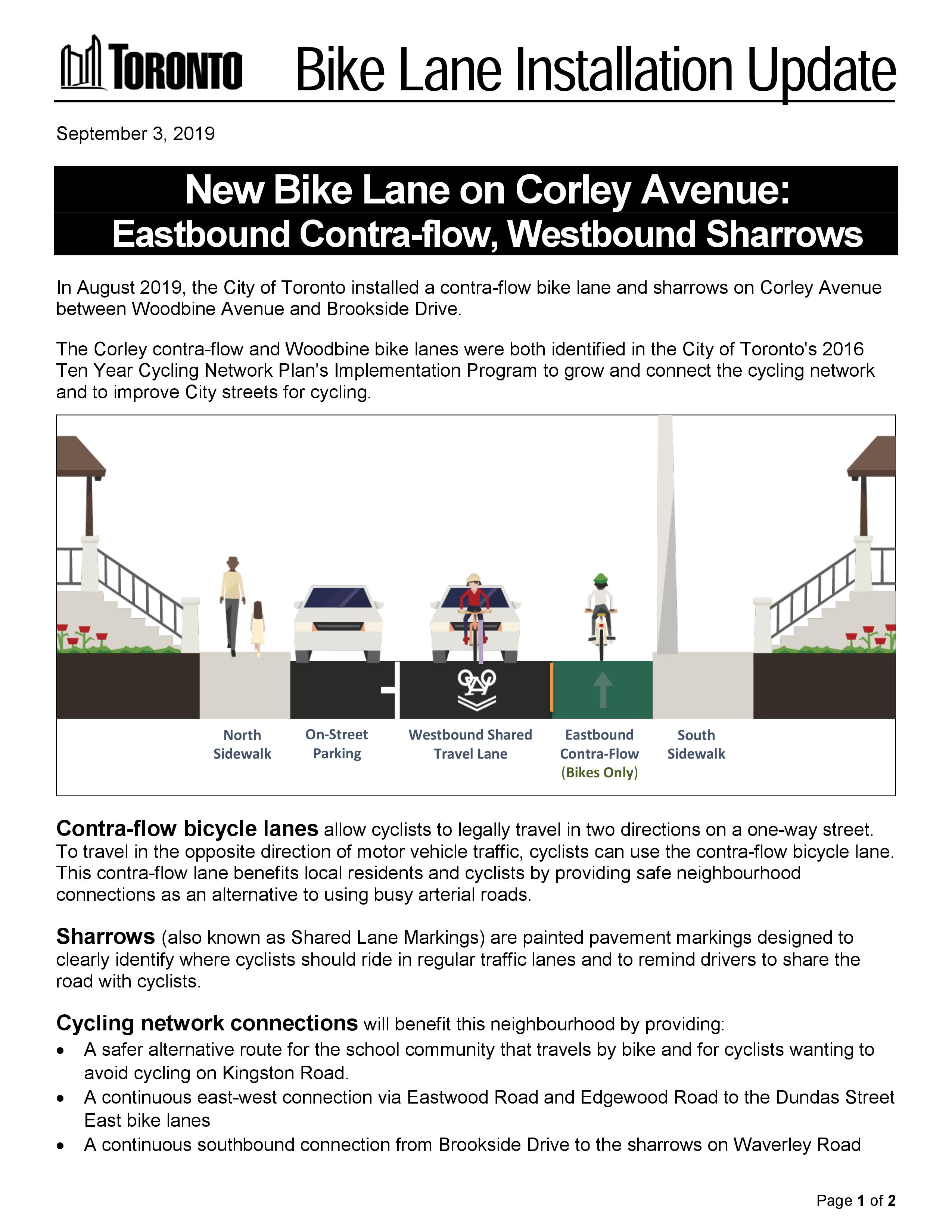 Corley Update Flyer Bike Lane FINAL_pg1
