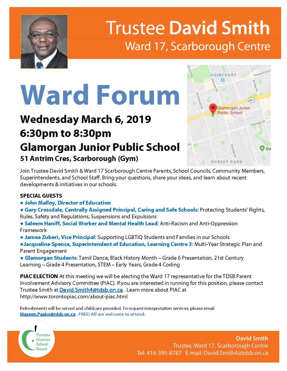 Ward Forum Flyer