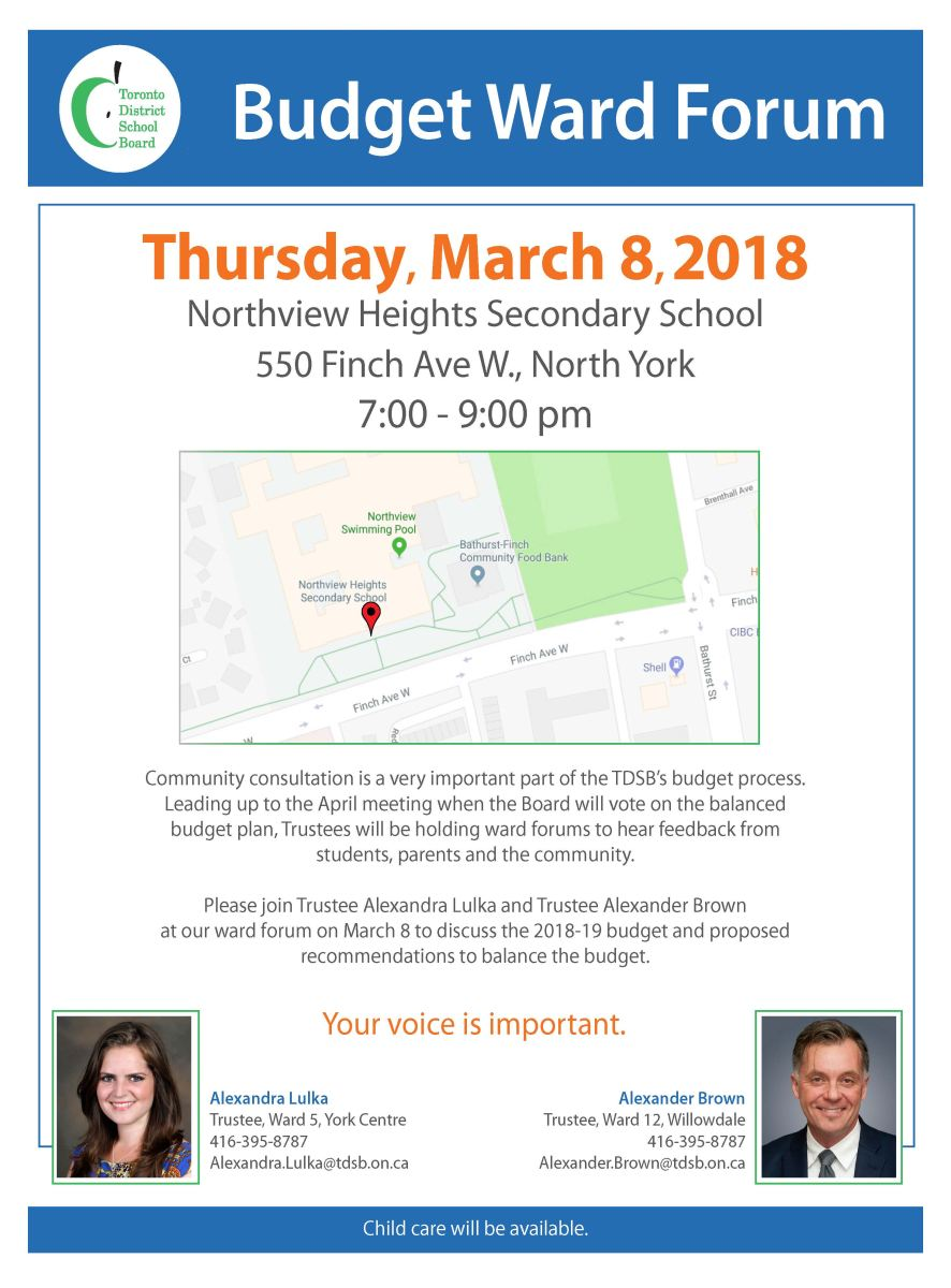 Joint Budget Forum - Thursday, March 8, 2018
