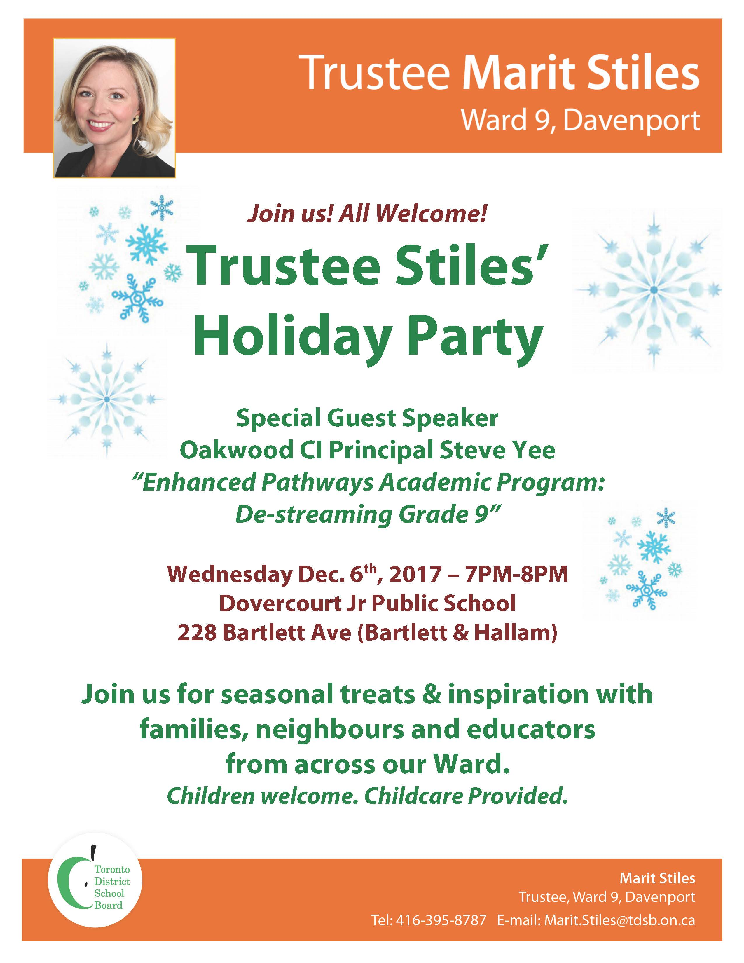 2017 12 06 Flyer Ward 9 Forum and Holiday Party M.Stiles